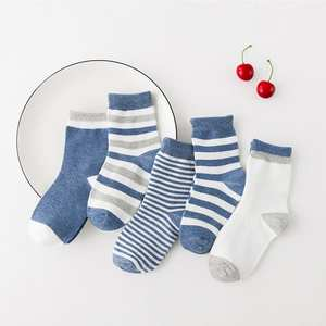 EMVANV 5 Pair/lot Soft Cotton Kids Socks For Baby Boy
