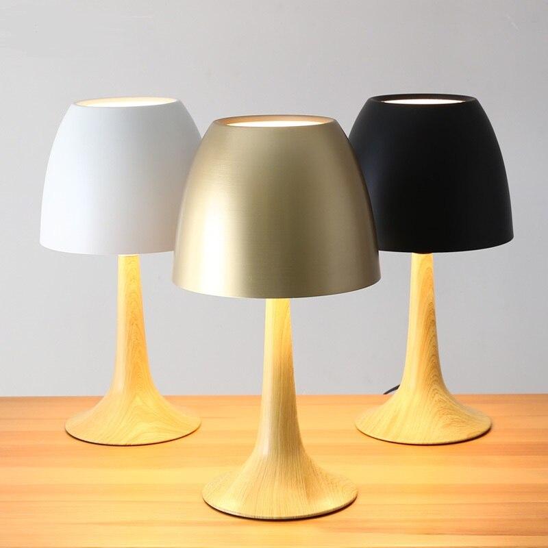 Современный простой прикроватная тумбочка для спальни исследование украшение металлической настольная лампа оригинальность модные lo883