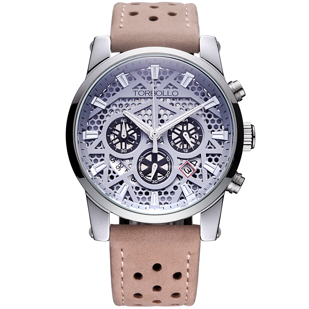 High Quality Original Brand Leather Dress Mens Watch Men Grey Chronograph Clocks Water Resistant bykski 40mm thick 240mm copper double row radiator computer water coolant discharge heat sink exchanger for 12cm fan