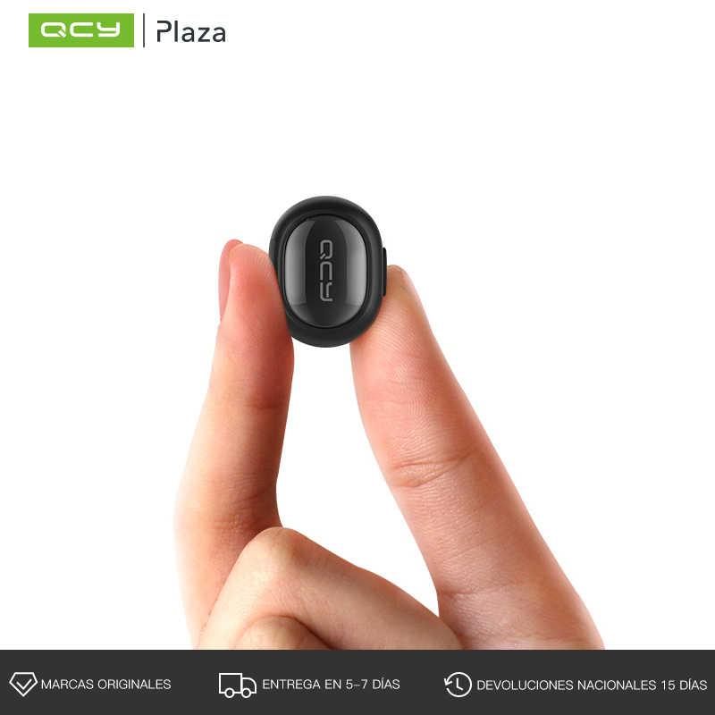 QCY słuchawki Bluetooth bezprzewodowe mini słuchawki głośnomówiący biznesu połączenia muzyki Stereo słuchawki douszne z mikrofonem