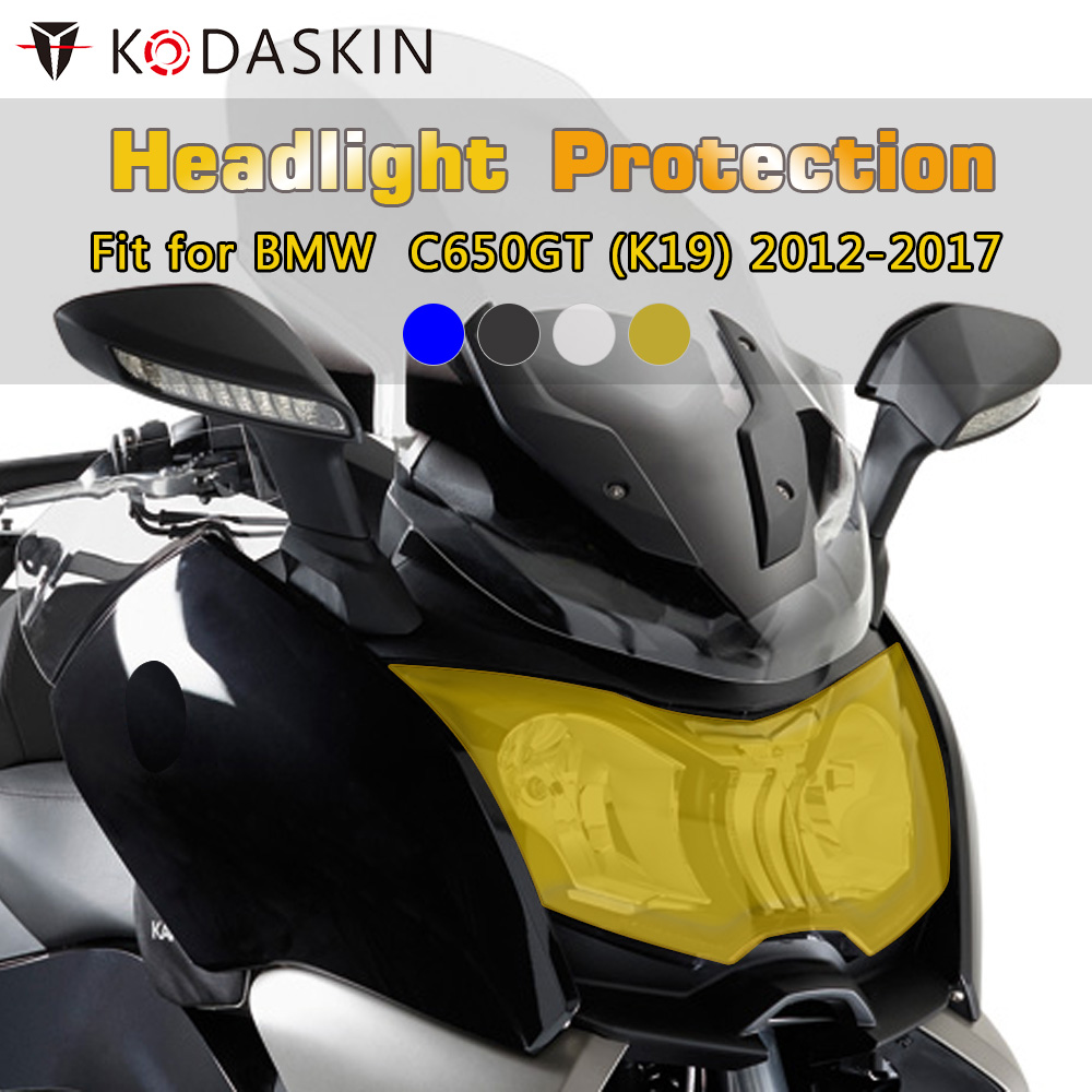 KODASKIN Motorcycle ABS Front Headlight Cover Protection Screen Lens For BMW C650GT K19 2012-2017