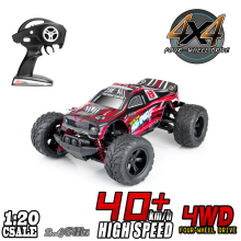 RC Car 1:20 4WD High Speed Off Road Remote Control Car 45km/h 2.4GHz All Terrain Radio Controlled Racing Monster Truck 1500mAh цена в Москве и Питере