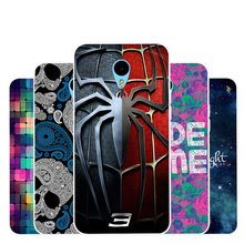 Again Cowl for MEIZU M 1 notice cell Telephone Case Gentle Silicon Colourful Cross portray Cute sample Cartoon Case spider sample