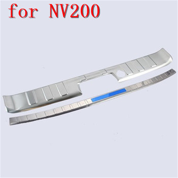 Stainless Steel car Rear Bumper Protector Sill  Trunk Rear guard Tread Plate Pedals Car Styling for Nissan NV200