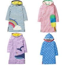 5f8efc66031fc 2018 осень-зима платья для девочек фирменное наименование Англия стиль детская  одежда дизайн вышивки детская