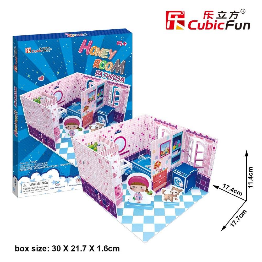 Кэндис Го! 3D пазл CubicFun DIY бумаги модель мед гостиная для ванной для девочек на день рождения Рождество подарок 1 шт.