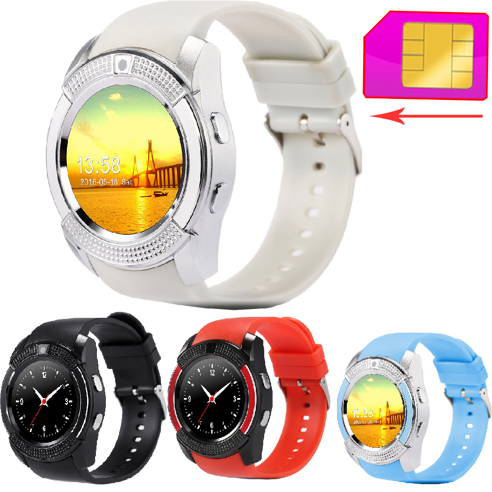 ZW45 Bluetooth Smart Watch font b SmartWatch b font 2G GSM TF Card Clock Wristwatch Camera