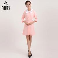 2018 High Quality Nurse Uniforms Doctor Medical Women Clothes Hospital Beautician Salon Pharmacy SPA Female Work Wear dress