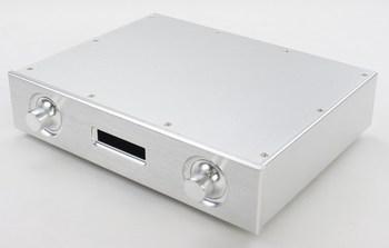 AK4497 Silver luxury Aluminum Chassis DAC Enclosure Amplifier Case Preamp Box