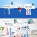 Electric UV Sterilizer Toothbrush Holder and Automatic Toothpaste Dispenser Cleaner Bathroom Home Set High Quality