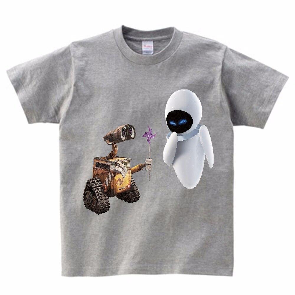 Забавная футболка с принтом «Wall-E eve», «robot couple», homme jollypeck, новая дышащая футболка, Детская футболка с короткими рукавами, MJ