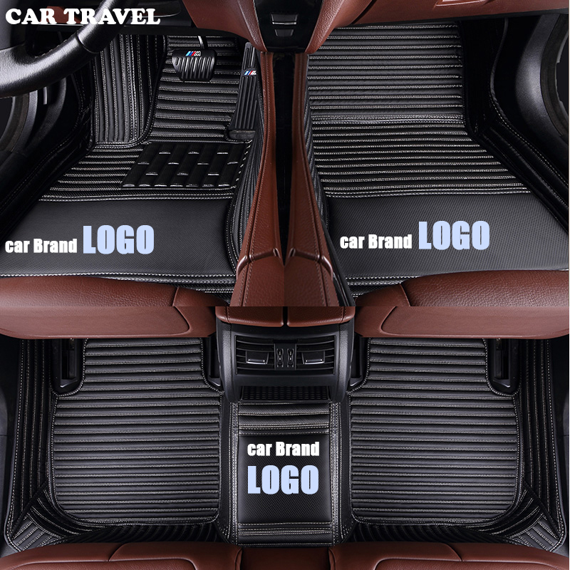 CAR TRAVEL car floor mats for Volkswagen LOGO vw up CC passat b5 b6 b7 b8 polo golf 4 5 6 tiguan jetta touran touareg car style