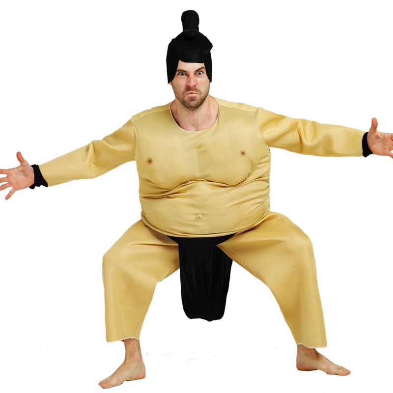 Adult Fat Funny Inflatable Sumo Costume Clothes for Halloween Party Christmas Party