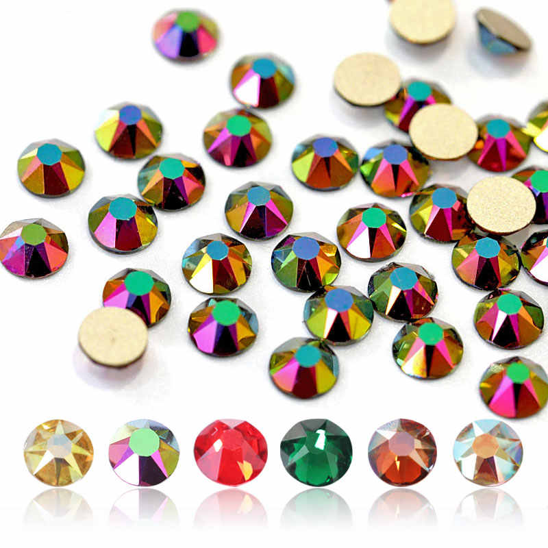 144PCS New Colors Crystal 8 Big + 8 Small 16 Cut Facets Rhinestone Crystal  Flatback Non 093d206e803b