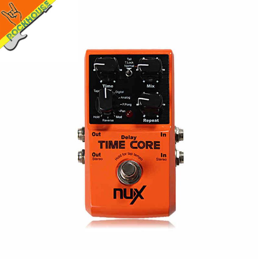 Prix pour NUX Temps Core 7 modes Retard Effets guitare Retard effet stéréo de la pédale looper effets avec 40 secondes d'enregistrement expédition gratuite