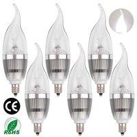 LEDMO LED Candle Bulbs E12 Candelabra Bulb 25W Equivalent White 6000K 270LM CRI80 Non Dimmable LED