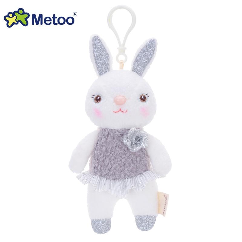 提拉米兔吊饰玫瑰花款-银灰