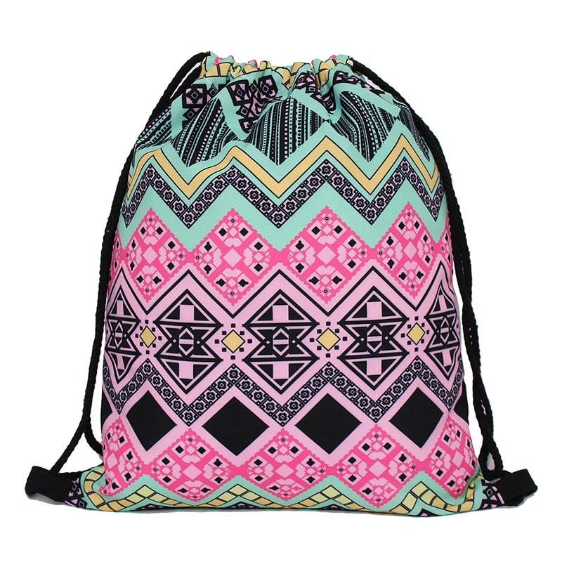 1pc Cotton Drawstring Bag Organizer Pouch Party Gift Bag Gray Mini Triangle B#