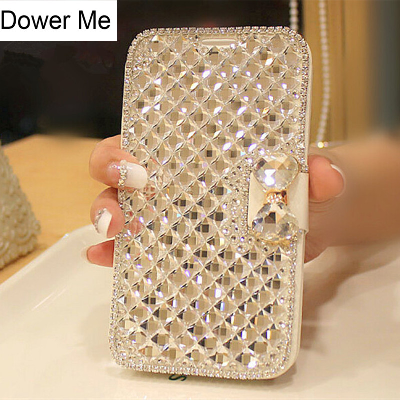 Bling Crystal Rhinestone Diamond Case för Iphone 11 Pro XS Max XR X 8 7 6S Plus Samsung Galaxy Note 10 9 8 S10E / 9/8 Plus S7 Edge