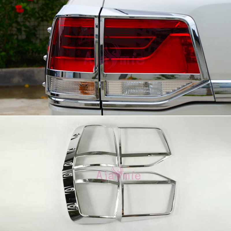 Chrome Car Styling Taillight Cover Lamp Trim Light Overlay Panel 2016 2017 2018 For Toyota LC