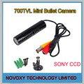 1/3 ''sony 960 h exview had ccd 700tvl effio-e 0.001lux mini Câmera Da bala com 3.6mm Bordo Lente sony câmera de segurança cctv vídeo