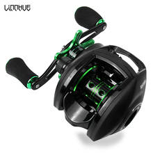 LINNHUE Reel Right-Hand-Reel Bass Fishing Best-Baitcasting White Max-Drag Reinforced
