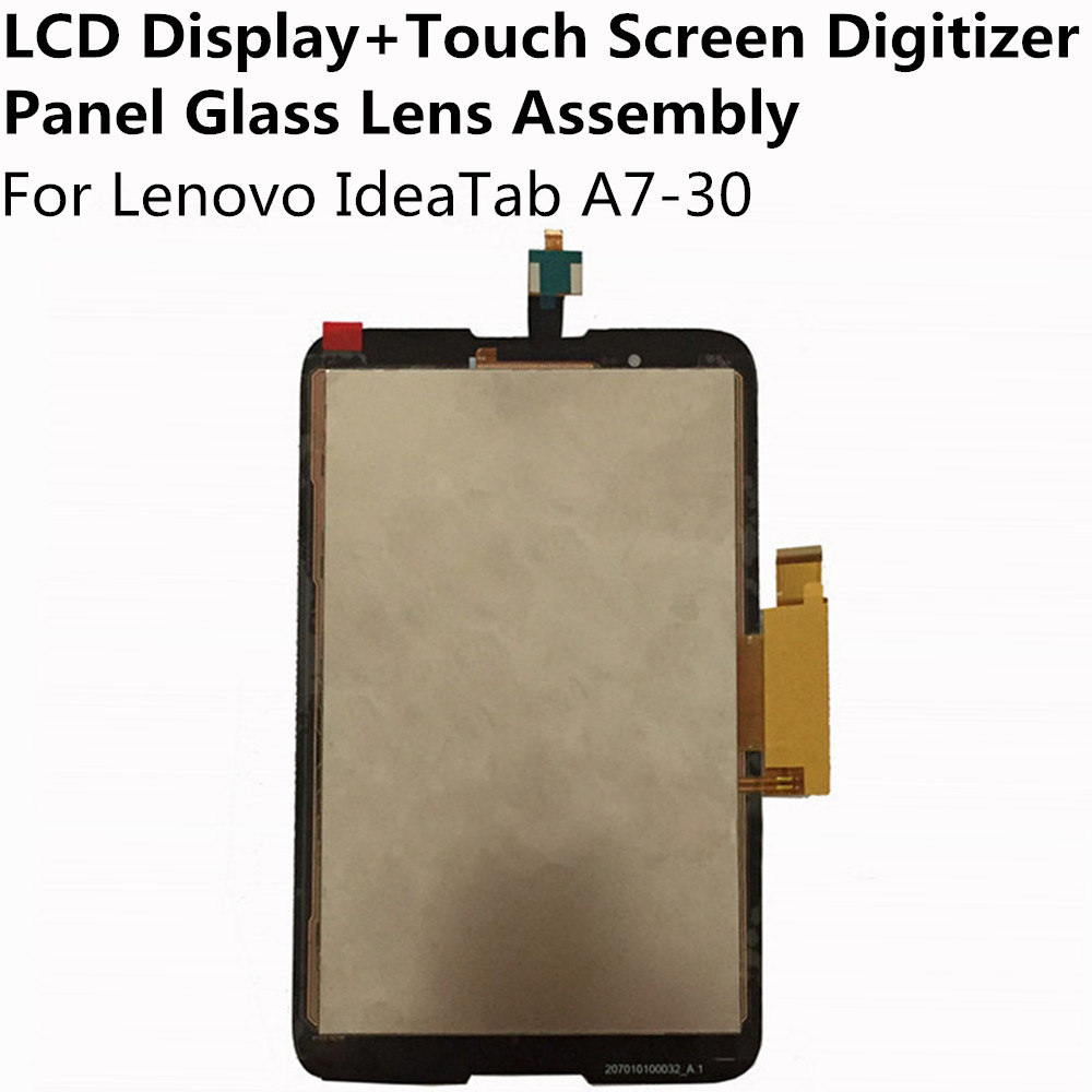 LCD Display + Touch Screen Digitizer Panel Glass Lens Sensor Assembly For Lenovo IdeaTab A7-30 Replacement Parts Repair Part