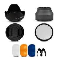 100 GUARANTEE Accessory Kit 58MM UV Filter Flash Diffuser Lens Hood Lens Cap For Canon Rebel