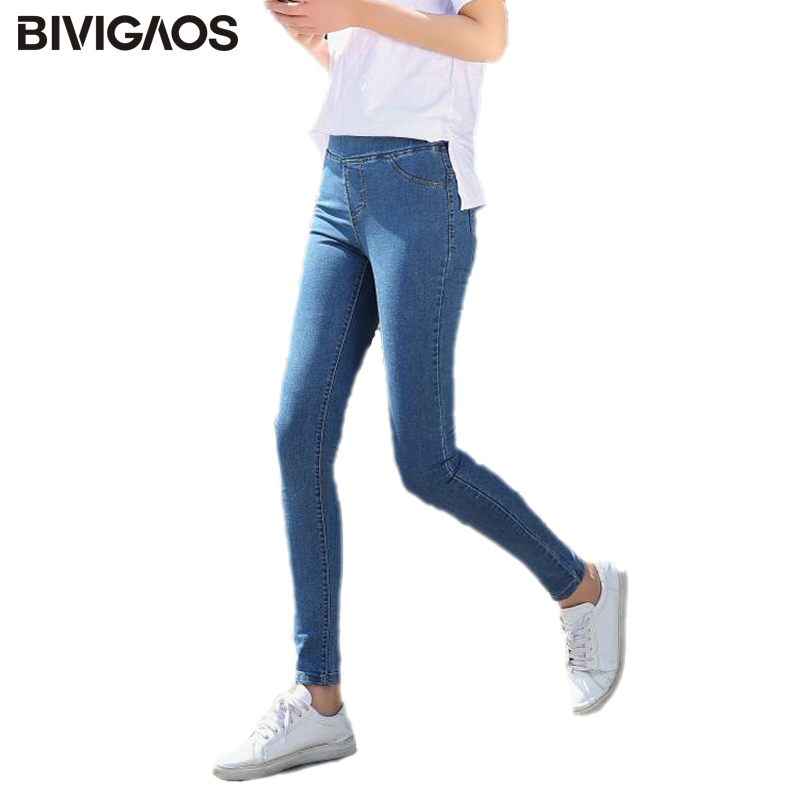 2018 Fall New Korean Women Jeans Slim Wash Jeans High Elastic Push Up Jeans Leggings Basis Denim Pencil Pants Skinny Jeans Woman