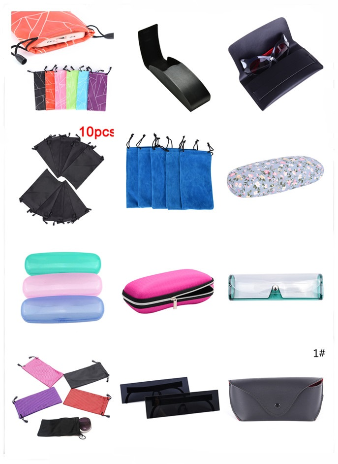 Eyewear Accessories Fashion Portable Container Bag Scratch-proof Glasses Cases Soft Travel Storage Eyeglasses Pouch Glasses Bag Felt Zipper