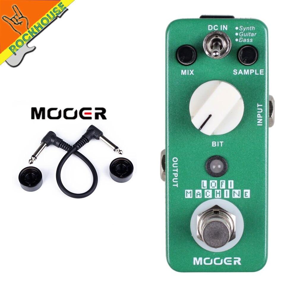 MOOER Lofi Machine Guitar Effects Pedal Wide Range Sampling rate depth Bass Guitar Synth True Bypass