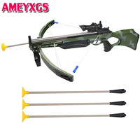 Crossbow Outdoor Child Toy Bow And Arrow Archery Set Garden Games Kit with 3 Sticky Sucker Suction Darts Shooting Accessories