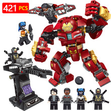 Super Hero Series Blocks LegoINGLYS Marvel Technic Iron Mech Avengers Infinity War Modle Mini Action Figures Bricks Toys