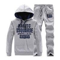 new 2018 Men's Tracksuits Outwear Hoodies sportwears Sets clothes Male Sweatshirts Men Set Clothing+Pants M 4XL size Wholesale