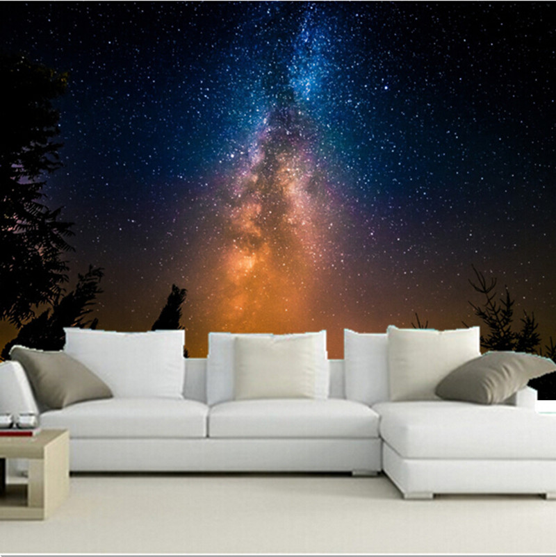 Custom 3D Large Mural,aestheticism Of The Milky Way Stars ,living Room Sofa TV Wall  Bedroom Wall Paper