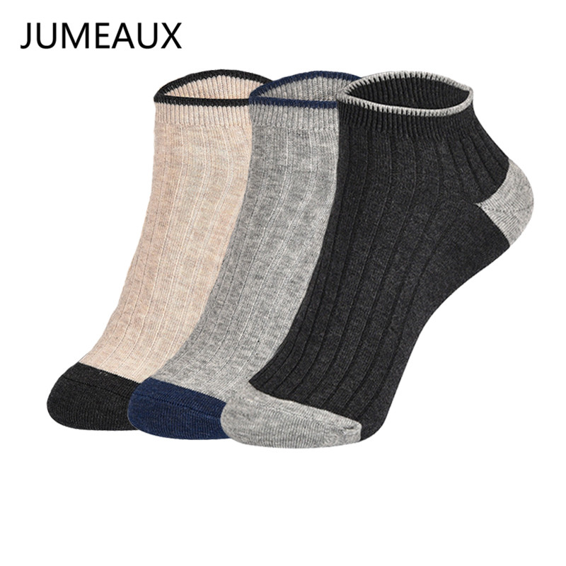 JUMEAUX Knitting Ankle Socks Men Casual 5 Colors Fashion Sporting Cotton Socks Men Casual Invisible Socks For Men a pair