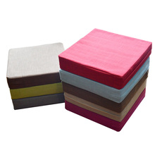 Linen Square Futon Meditation Cushion  Japanese Style Large Floor Cushions Tatami Seat