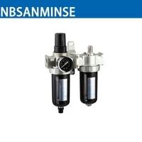 SFC200 1 4 3 8 1 2 Two Units Air Filter Regulator Lubricator Air Compressor Filter
