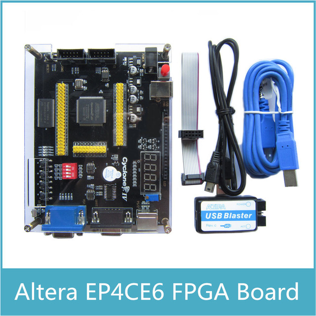 US $29 22 16% OFF|ALTERA EP4CE6 FPGA Development Board Altera Cyclone IV  NIOSII EP4CE Board and USB Blaster Programmer-in Integrated Circuits from