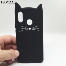 For Huawei P20 Lite Phone Back Cover P9 Lite Mini P8 P10 3D Cute Mustache Beard Cat Ear Case For Huawei Y6 2017 Y5 II 2 Honor 9 все цены