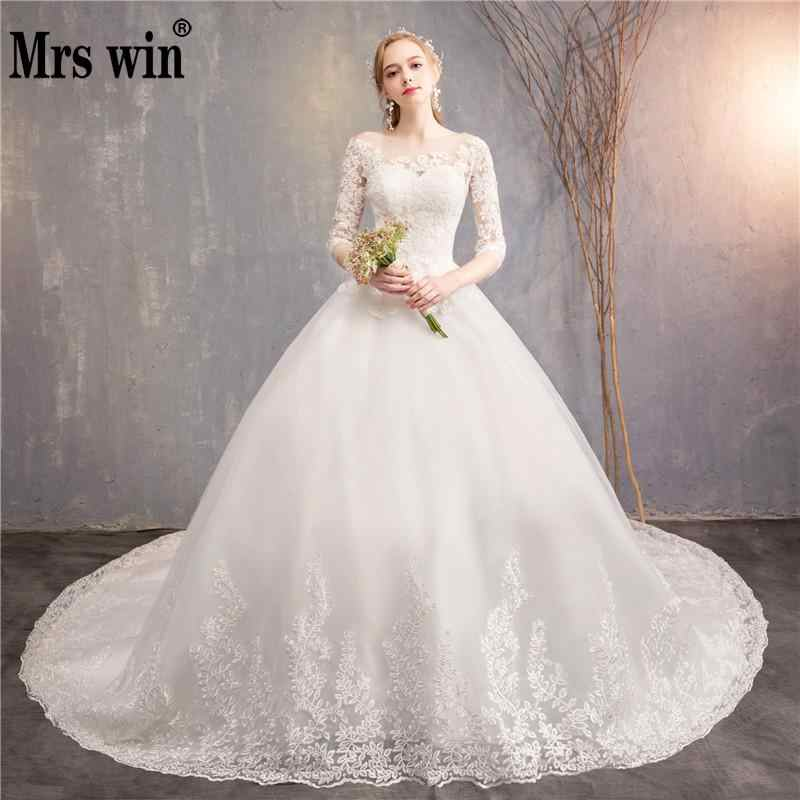 23b00d49741c Robe De Mariee Grande Taille 2018 New The Half Sleeve Ball Gown Luxury Lace  Embroidery Wedding