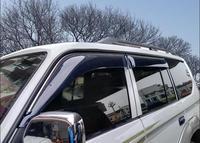 4pcs Chrome Window Visor Deflector Sun Rain Shield For Toyota Land Cruiser LC80 FJ80