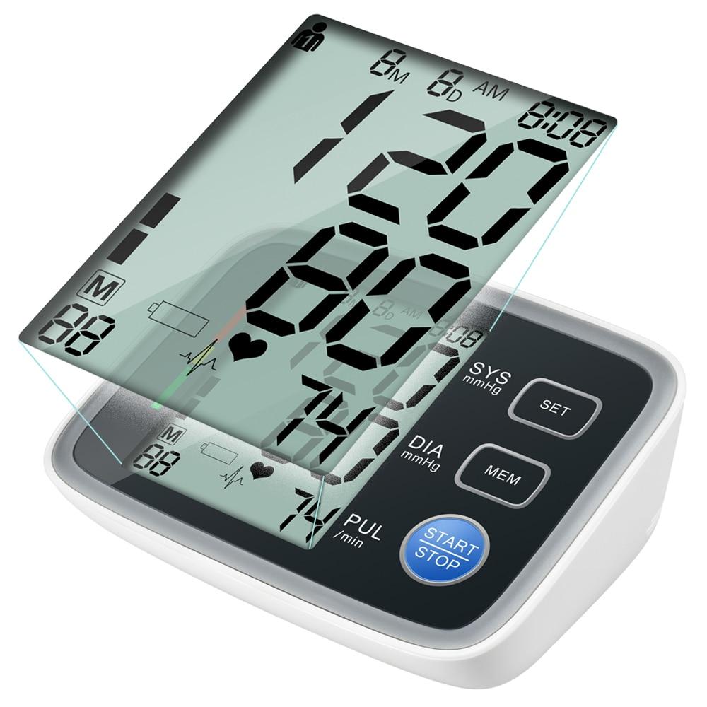 ELERA tensiometros Digital Upper Arm Blood Pressure Monitor Portable tonometer Sphygmomanometer Blood Pressure Pulse Meter upper arm blood pressure monitor desktop type pulse meter auto inflate inflating deflate diflating