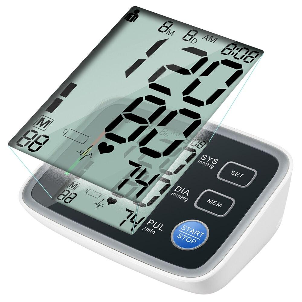 ELERA tensiometros Digitale Oberarm-blutdruckmessgerät Tragbaren tonometer Blutdruckmessgerät Blutdruck Puls Meter