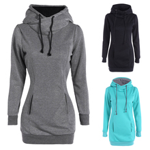 Autumn Winter Sweatshirts New Women Clothing Hoodies Female Casual Sweatershirts Solid Slim Lady Warm Pullovers Plus Size