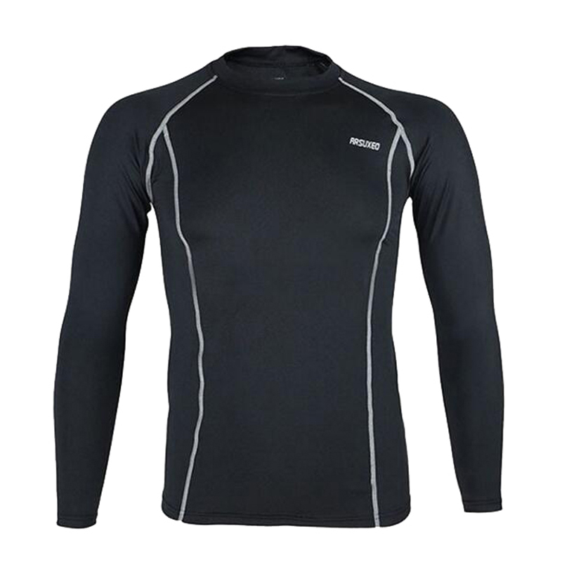 Anti-sweat Cycling Base Layer Sports Underwear Long Sleeve Compression Tight Running Fitness Weight Lifting Shirts