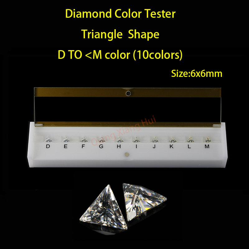 Triangle shapes D To N white Color Cubic Zirconia stone diamond grade color Tester Tools недорго, оригинальная цена