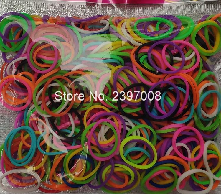 Loom Bands Rubber Bracelet For Kids Or Hair Rainbow Rubber Loom Bands Make Bracelet DIY Toys Christmas 2019 Gift