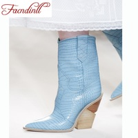 brand boots snake print leather high heel ankle boots women shoes sexy pointed toe lady dress shoes platform winter boots women