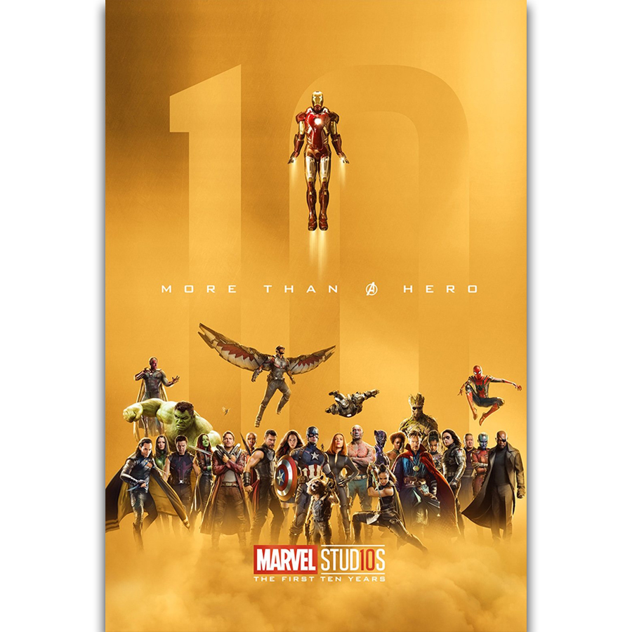 S1473 The Marvel Studios The First Ten Years Avengers Movie Wall Art ...